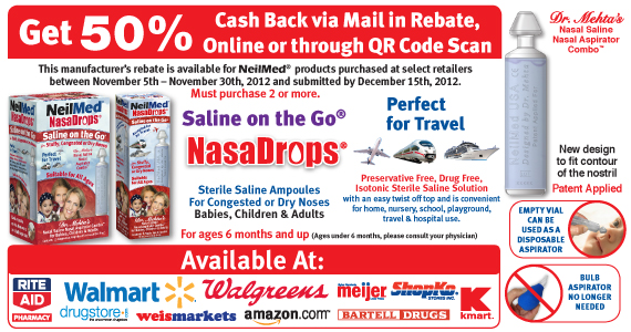 50% Cash Rebate Offer on NasaDrops