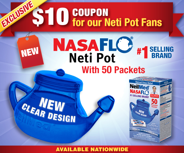 $10 COUPON ON NEW CLEAR NASAFLO NETI POT